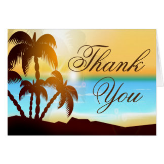 Beach Palm Trees Summer Thank You Cards