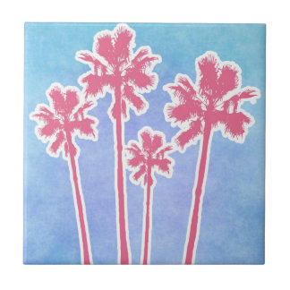 Beach Palm Trees Tile