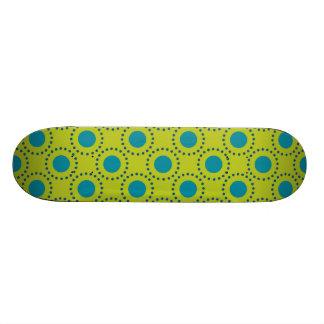 beach-paper-2 GREEN BLUE POLKA DOT POLKADOTS Skate Board