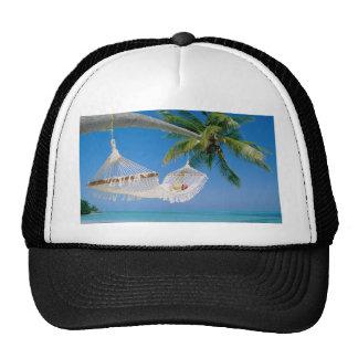 Beach Paradise Vacation Hammock Trucker Hats