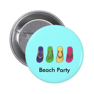 Beach Party 6 Cm Round Badge
