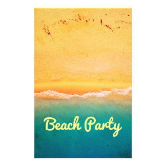 Beach party and celebrations 14 cm x 21.5 cm flyer