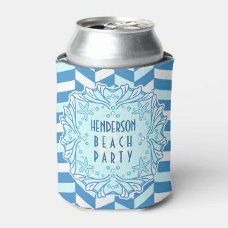 Beach Party Art Deco Shell and Herringbone Custom