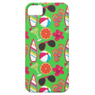 Beach Party Flip Flops Sunglasses Beach Ball Green iPhone 5 Cover