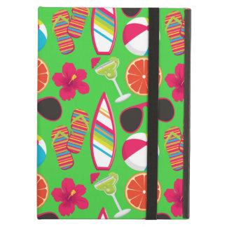 Beach Party Flip Flops Sunglasses Beach Ball Green iPad Air Covers