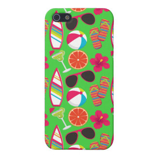Beach Party Flip Flops Sunglasses Beach Ball Green iPhone 5 Cases