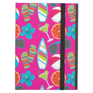 Beach Party Flip Flops Sunglasses Beach Ball Pink Case For iPad Air