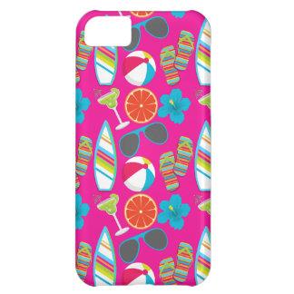 Beach Party Flip Flops Sunglasses Beach Ball Pink iPhone 5C Case