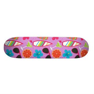 Beach Party Flip Flops Sunglasses Beachball Purple 18.1 Cm Old School Skateboard Deck