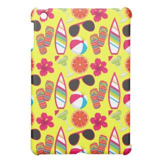 Beach Party Flip Flops Sunglasses BeachBall Yellow iPad Mini Cases