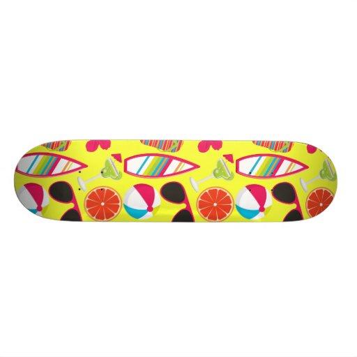 Beach Party Flip Flops Sunglasses BeachBall Yellow Skateboard Decks