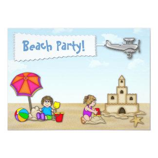 "Beach Party Invitation 5"" X 7"" Invitation Card"