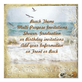 Beach Party Multi purpose Invitation