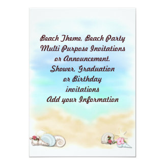 Beach Party Multi purpose Invitation Announcement