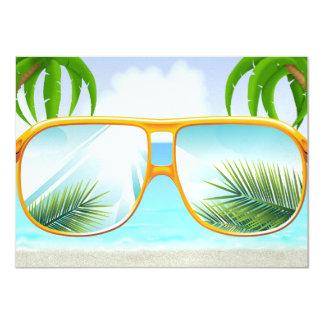 Beach Party - SRF 11 Cm X 16 Cm Invitation Card