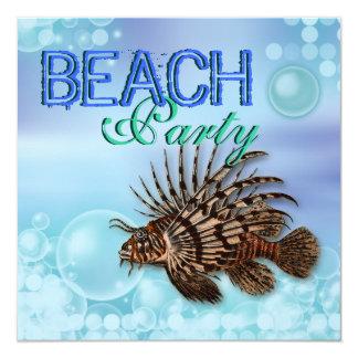 Beach party summer fun elegant invitations