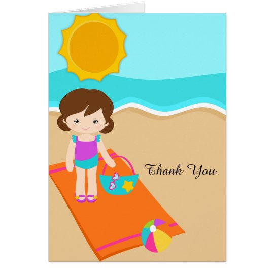Beach Party Thank You Card