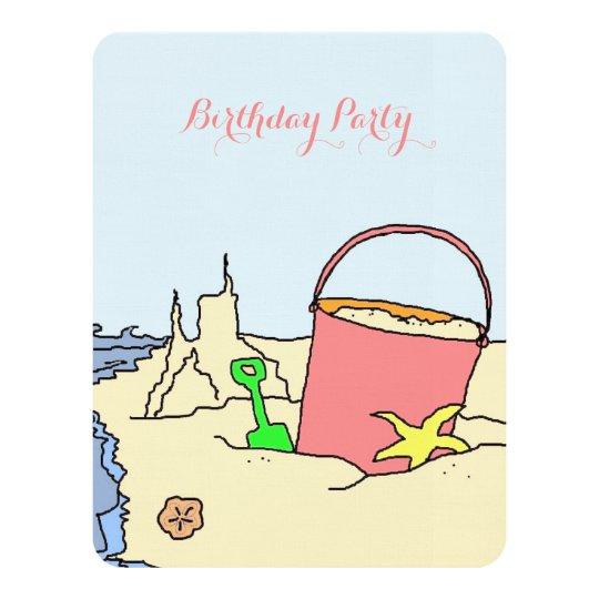 Beach Party Toys Birthday Party Invitation