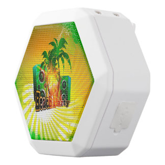 Beach party, tropical design with palm trees white boombot rex bluetooth speaker