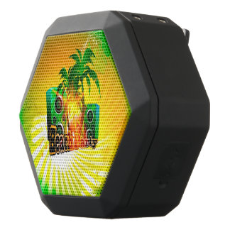 Beach party, tropical design with palm trees black boombot rex bluetooth speaker
