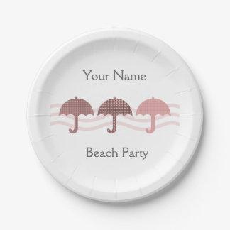 Beach Party Umbrellas Paper Plate