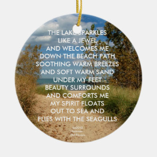 BEACH PATH ORNAMENT OR PENDANT
