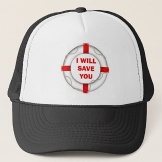 Beach Patrol I will Save You Trucker Hat
