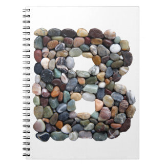 Beach Pebble Letter B Note Book