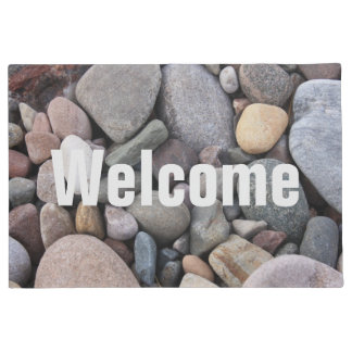 Beach Pebble Welcome Mat