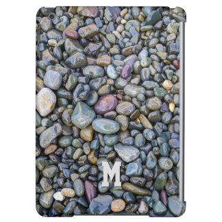 Beach Pebbles custom monogram device cases