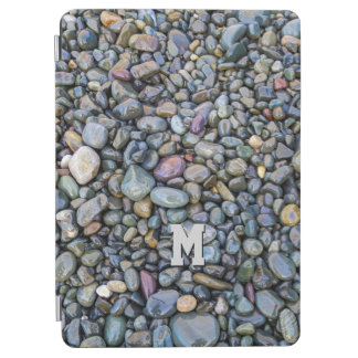 Beach Pebbles custom monogram device covers iPad Air Cover