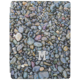 Beach Pebbles custom monogram device covers iPad Cover