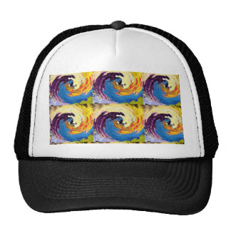 Beach Pebbles Whirlwind Tornado Waves FUN Seashore Mesh Hats