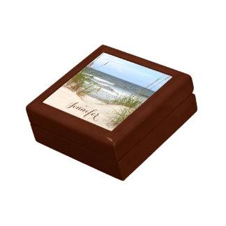 Beach Personalized Small Square Gift Box