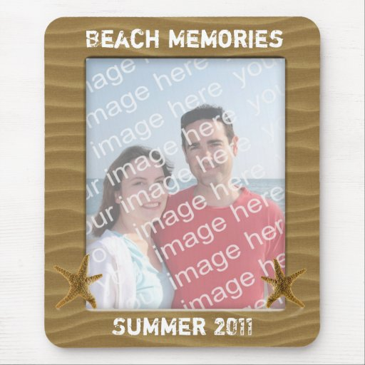 Beach Photo Frame Mouse Pads