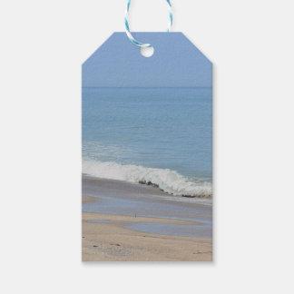 Beach photo gift tags