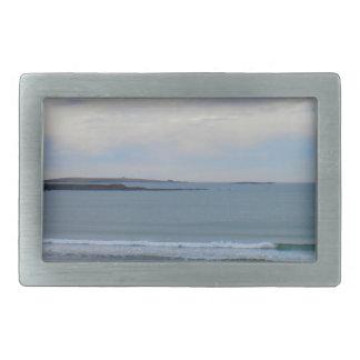 Beach Photo Rectangular Belt Buckles