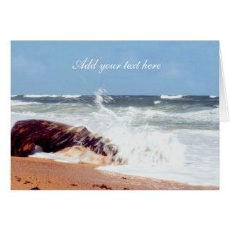 Beach Photography- Log Greeting Card