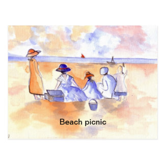 BEACH PICNIC POSTCARD