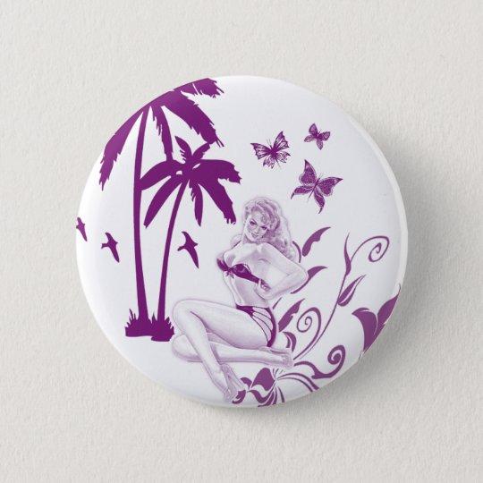 Beach Pin-Up 6 Cm Round Badge