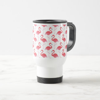 Beach pink Flamingo pattern travel mug