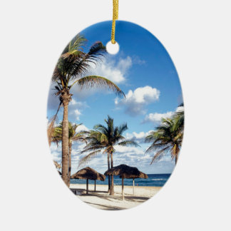 Beach Playas Cuba Christmas Ornament