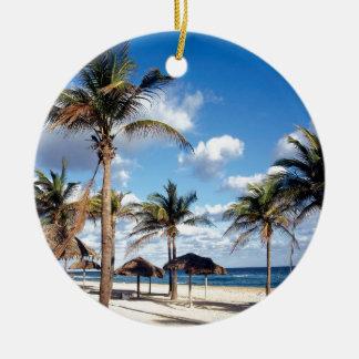 Beach Playas Cuba Christmas Ornament