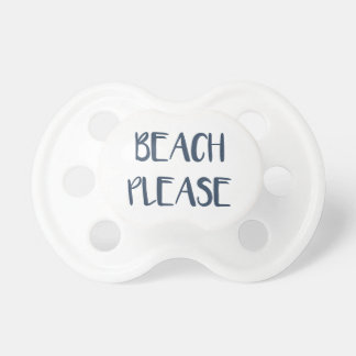 Beach Please Baby Pacifier