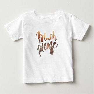 BEACH PLEASE, baby t-shirt, photo with funny quote Baby T-Shirt