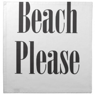 Beach Please Cloth Napkin
