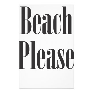 Beach Please Customised Stationery