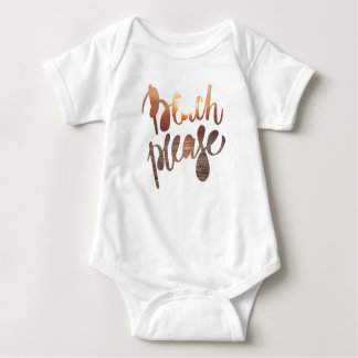 BEACH PLEASE, Fun Typography & Quote Baby bodysuit