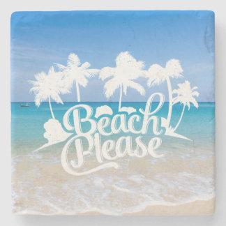 Beach Please Funny Quote Coaster Stone Beverage Coaster