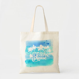 Beach Please Funny Quote Tote Bag